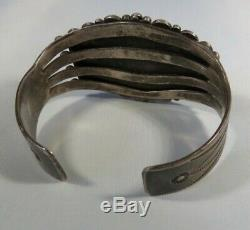 Fred Harvey era petrified wood/ dendrite agate/ picture agate silver cuff