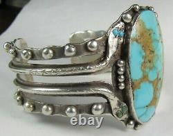 Garden of Gods COLO SPGS Navajo FW McKinley Snake Turquoise Silver Bracelet Cuff
