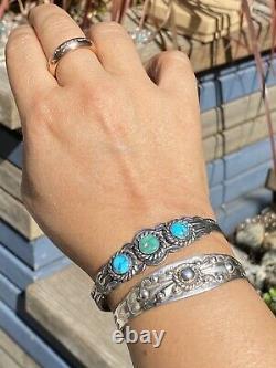Gorgeous Sterling Silver Bracelet Navajo Fred Harvey 1930s Deco Silver Arrow