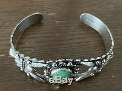 Gorgeous Sterling Silver Royston Turquoise Bracelet Fred Harvey Era Navajo MCM