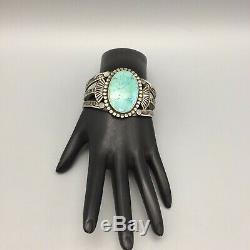 HANDMADE, Better Kind of Fred Harvey Era Turquoise and Sterling Silver Bracelet