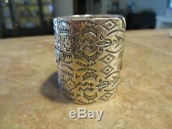 HUGE. DYNAMITE OLD Fred Harvey Era Navajo Sterling Silver THUNDERBIRD Bracelet
