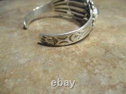 JOYFUL Old Fred Harvey Era Navajo Sterling Silver CONCHO DOME Bracelet