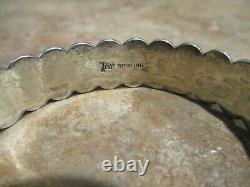 JUBILANT Old Post Fred Harvey Era Navajo Sterling Silver DOME Row Bracelet