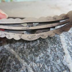 Native American Fred Harvey Sterling Silver Thunderbird Bracelet