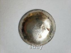 Native American Old Silver Miniature Salt Bowl Fred Harvey era ca 1910