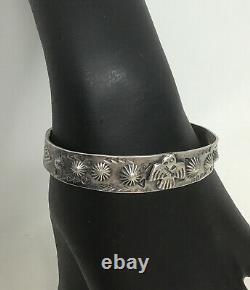 Navajo Fred Harvey Era Cuff Bracelet Sterling Silver Thunderbird Native American