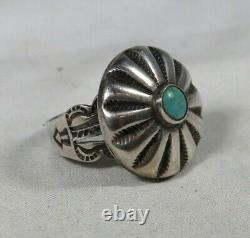Navajo Fred Harvey Era Vintage Sterling Silver and Turquoise Ring