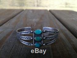 Navajo Fred Harvey Turquoise & Sterling Silver Bracelet Lot (3) Thunderbird