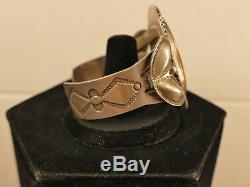 Navajo Petrified Wood Ingot Silver Bracelet 59.4 Gms Fred Harvey Tucson Estate