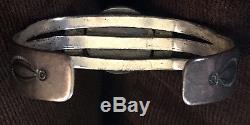 Navajo Signed John Silver Fred Harvey CG Wallace Silversmith Hand Made Bracelet