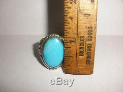 Navajo old pawn Thunderbird mens ring turquoise Sterling Silver s 11 Fred Harvey