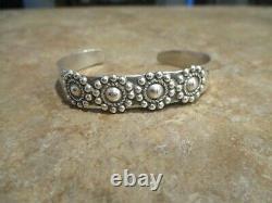 OLD 1920's Fred Harvey Era Navajo 900 Coin Silver CONCHO Bracelet