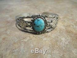 OLD 1950's Fred Harvey Era Navajo Sterling Silver Turquoise THUNDERBIRD Bracelet