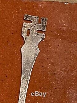 Old Navajo Silver Spoon Swastikas Standing Chief Bow Arrow Nice Fred Harvey Era