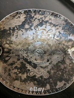 Old Navajo Stamped, Fred Harvey Era, Sterling Silver Cigarette Cigar Ashtray
