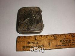 Old Paw Navajo Zuni knifewing kachina pill sterling silver box Fred Harvey era