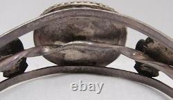 Old Pawn Fred Harvey Era BisBee Turquoise Bracelet Navajo Sterling Silver Estate