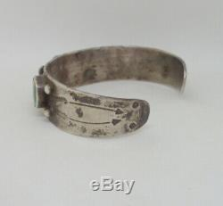 Old Pawn Fred Harvey Turquoise Silver Cuff Bracelet Real Old