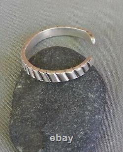 Old Vintage Fred Harvey Era Native American Unisex Silver Ingot Cuff Bracelet