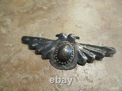 RARE OLD 1940's Fred Harvey Era Navajo Sterling Silver DOUBLE THUNDERBIRD Pin