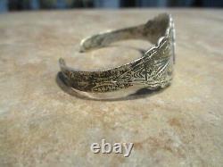 REAL OLD 1940's Fred Harvey Era Navajo Sterling Silver ARROWHEAD Bracelet
