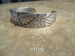 REAL OLD 1940's Fred Harvey Era Navajo Sterling Silver THUNDERBIRD Bracelet