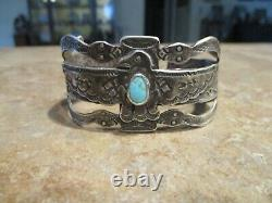 REAL OLD Fred Harvey Era Navajo Silver WHIRLING LOG THUNDERBIRD SNAKE Bracelet