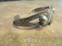 REAL OLD Fred Harvey Era Navajo Sterling Silver APPLIED THUNDERBIRD Bracelet
