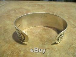 REAL OLD Fred Harvey Era Navajo Sterling Silver ARROW MOON Design Bracelet