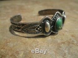 REAL OLD Fred Harvey Era Navajo Sterling Silver CERRILLOS Turquoise Bracelet