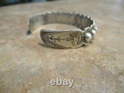 REAL OLD Fred Harvey Era Navajo Sterling Silver DOME Row Bracelet