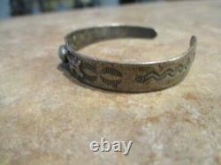 REAL OLD Fred Harvey Era Navajo Sterling Silver Turquoise HORSE DOG Bracelet