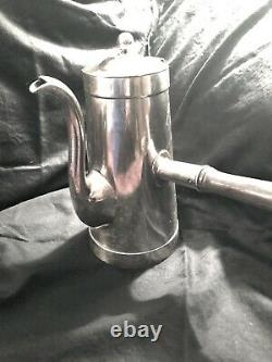 Rare Antique Silver Plated Fred Harvey Railroad Coffee Urn. Wooden Handle