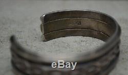 Rare Vintage Navajo Fred Harvey Silver Native American UITA 21 Cuff Bracelet Old