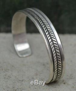 Rare Vintage Navajo Fred Harvey Silver Native American UITA Cuff Bracelet Old