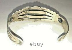 Rx132 Handmade Fred Harvey Sterling Silver And Touquise \ Bracelet