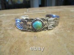 SCARCE 1930's Fred Harvey Era Navajo INDIAN HANDMADE THUNDERBIRD Bracelet