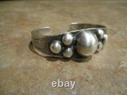 SCARCE OLD Fred Harvey Era Navajo Sterling Silver DOME Bracelet