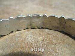 SCARCE OLD Fred Harvey Era Navajo Sterling Silver DOME Row Bracelet
