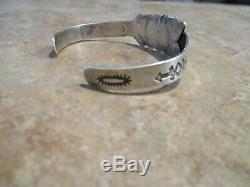 SCARCE OLD Fred Harvey Era Navajo Sterling Silver Turquoise ARROW Bracelet