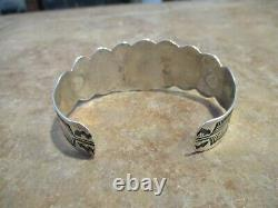 SCARCE Old Fred Harvey Era Navajo Sterling Silver Applied THUNDERBIRD Bracelet