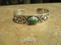 SPECIAL OLD Fred Harvey Era Navajo 900 COIN Silver CERRILLOS Turquoise Bracelet