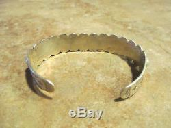 SPECIAL OLD Fred Harvey Era Navajo Sterling Silver DOME ROW Design Bracelet