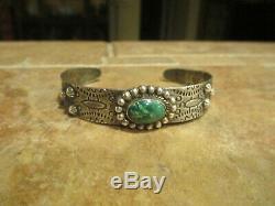 SPECIAL OLD Fred Harvey Era Navajo Sterling Silver PREMIUM Turquoise Bracelet