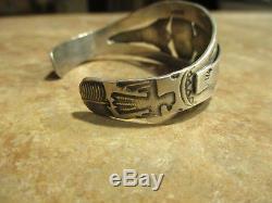 SPECIAL OLD Fred Harvey Era Navajo Sterling Silver Turquoise DESIGN Bracelet