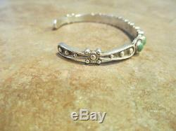 SPECIAL OLD Fred Harvey Era Navajo Sterling Silver Turquoise ROW Bracelet