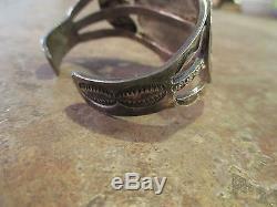 SPLENDID OLD Fred Harvey NAVAJO Sterling Silver PETRIFIED WOOD AGATE Bracelet