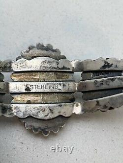 STUNNING Fred Harvey Era Dragons Breath Sterling Silver Navajo Cuff Bracelet
