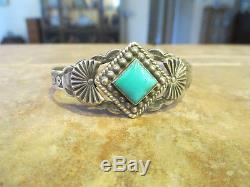 Scarce Old Fred Harvey Era Navajo Sterling Silver PREMIUM Turquoise Bracelet